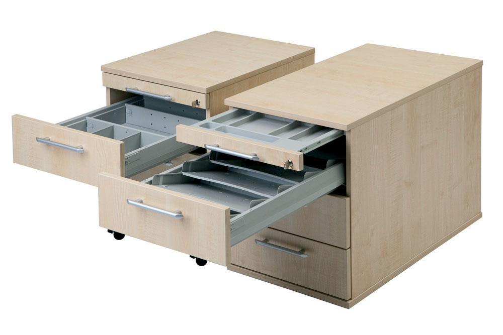 Rollcontainer mit Hängeregistratur, 1 x Schubfach,1 x Utensilienfach ...